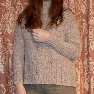 J. Crew beige and multi-colored wool knit sweater.